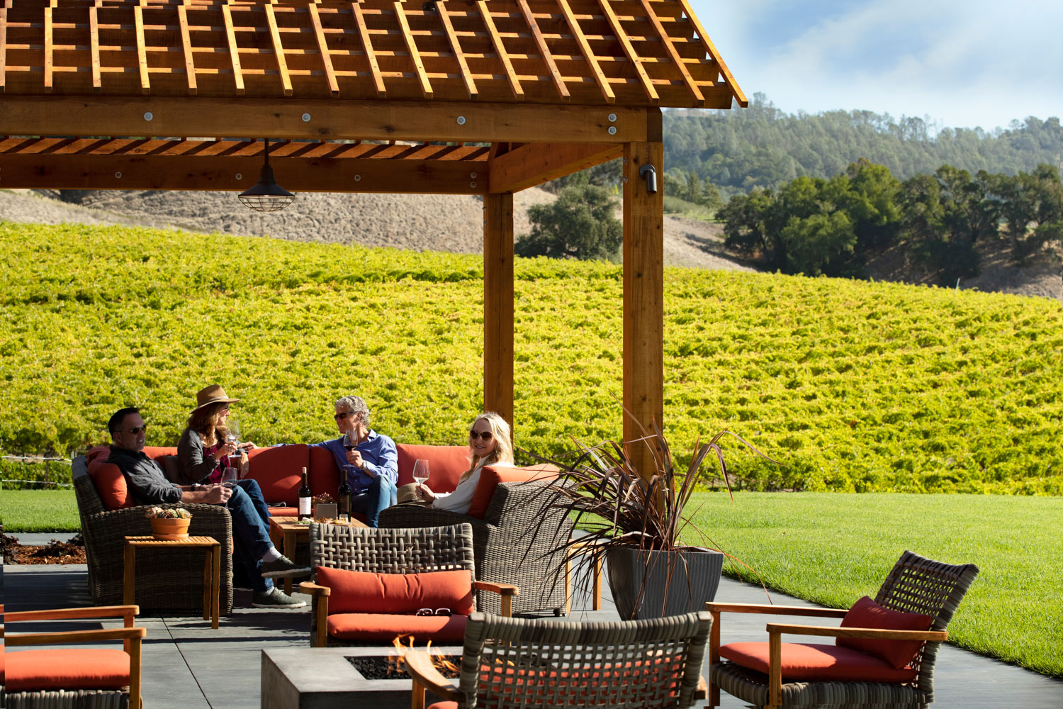 Robert Young Estate Winery patio with guests